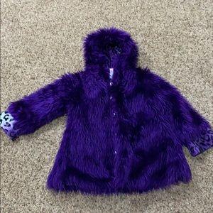 Girls purple winter jacket size 4T